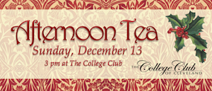 Afternoon tea at The College Club Sunday, December 13, 2015